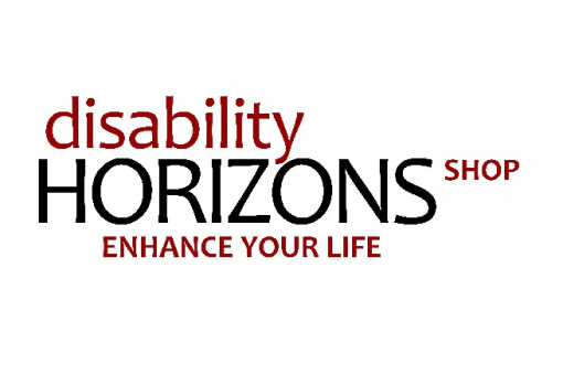 Disability Horizons Shop logo with the words Disability Horizons Shop and enhance your life