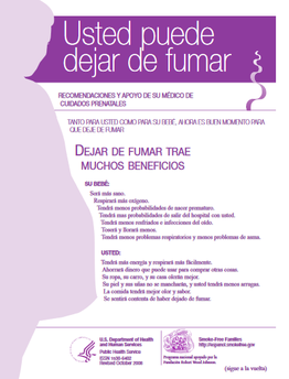 Image of the You Can Quit Smoking publication/tool - in Spanish