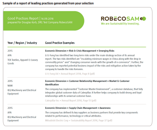 Sustainable & Responsible Investing | Sustainability Update