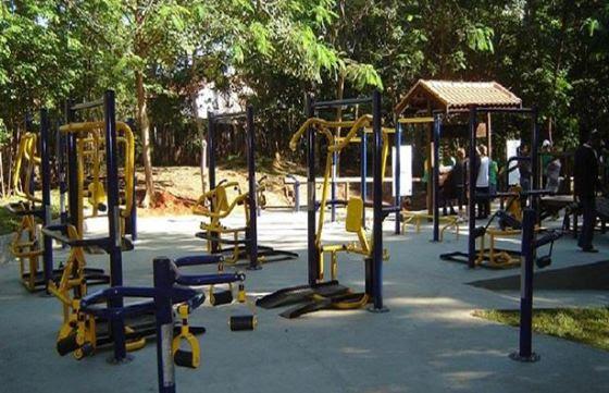 Parque da Água Branca recebeu equipamentos de musculação adaptados