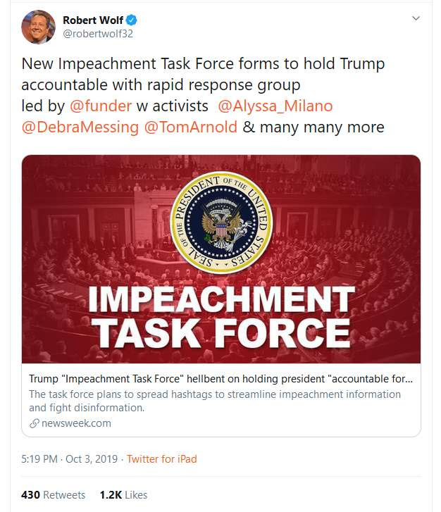 impeachment tweet