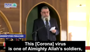 "Muslim cleric: Coronavirus ""is one of Almighty Allah's soldiers…he is unleashing it on those who attack believers"""