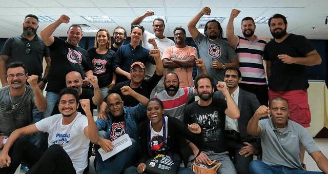 Participantes do seminário organizado pelos Policiais Antifascismo, no Rio de Janeiro - Créditos: Divulgação   Policiais Antifascismo