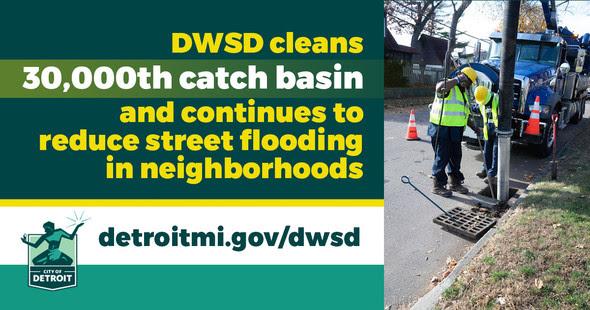 DWSD Cleans 30,000th Catch Basin
