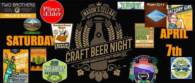 Craft Beer Night, Saturday, April 7