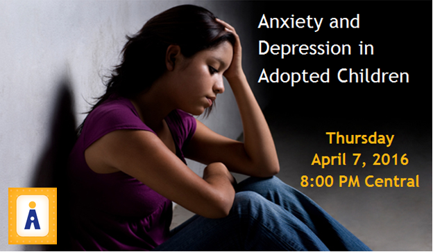 Anxiety and Depression Webinar: Thursday, April 7 8PM Central
