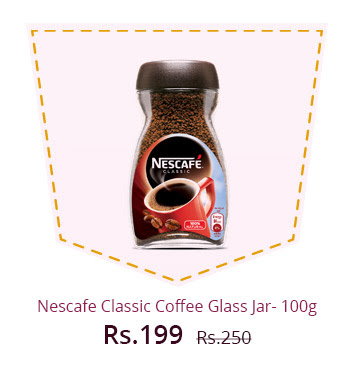 NESCAFE Classic Coffee Glass Jar- 100g (Pack of 2, 50gms)