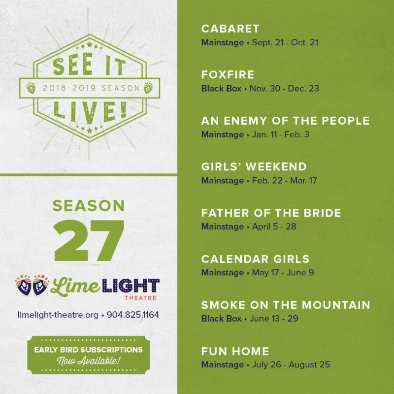 Limelight Theatre announces 8 shows in 2018-19 season