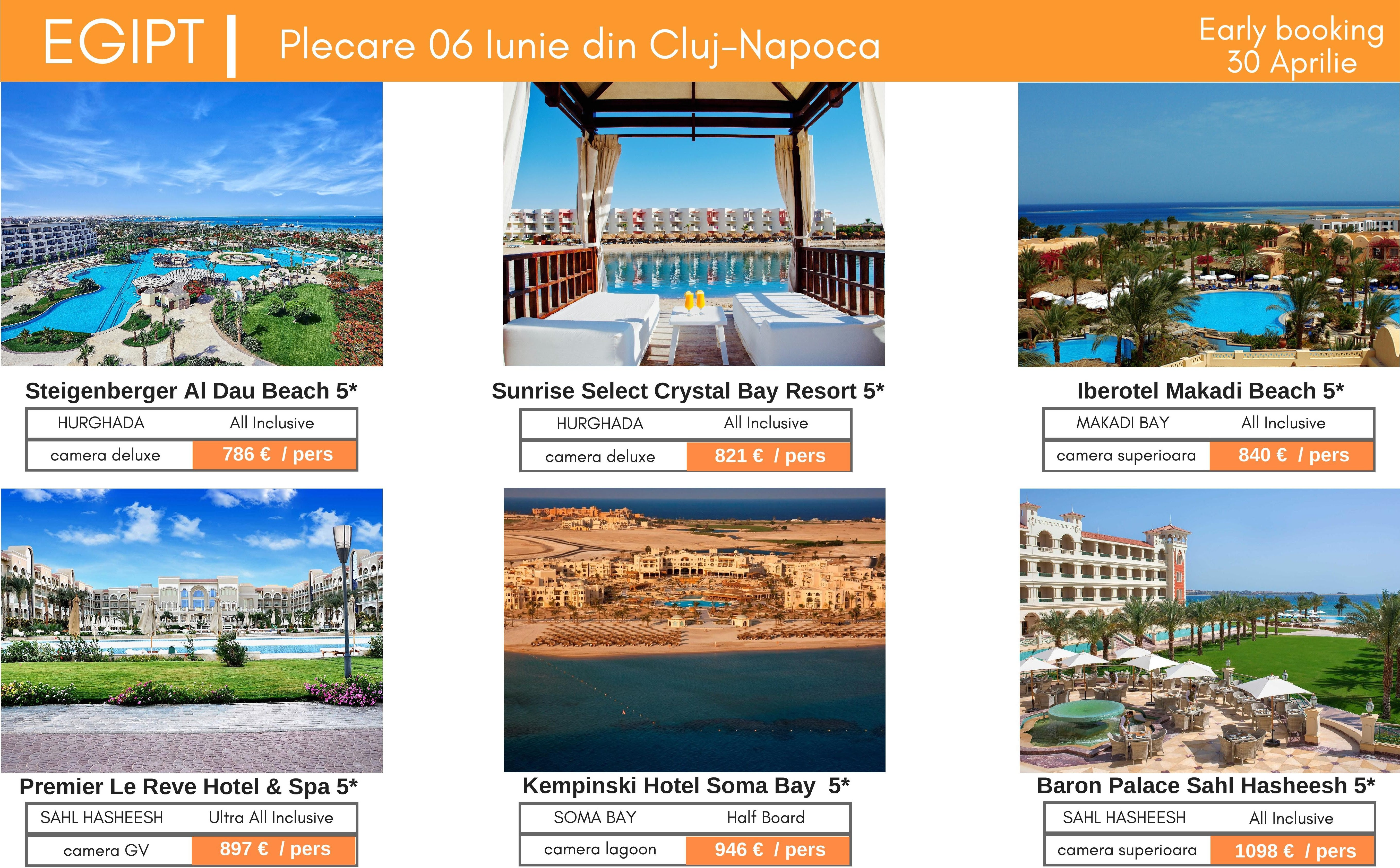 Egipt-Hurghada | Hoteluri 5* Deluxe | Plecare 06 Iunie din Cluj-Napoca