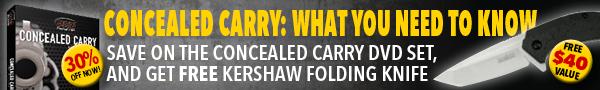 CONCEALED CARRY: RANGE TRAINING 3-DVD SET + FREE FOLDING KNIFE