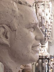 The process of sculpting Indianapolis 500 winners such