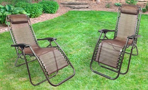 Zero Gravity Lounge Chairs (2-Pack)