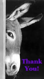 Thank you donkey