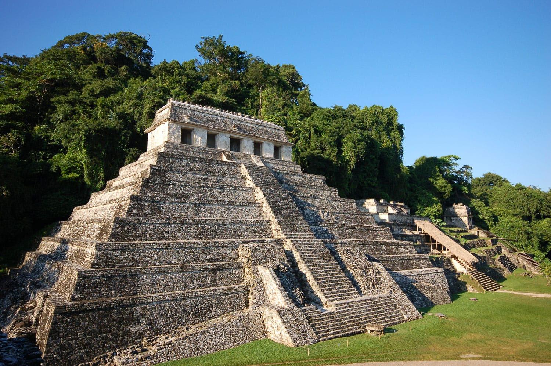 Chiapas Meksika Palenque Maya kalıntıları
