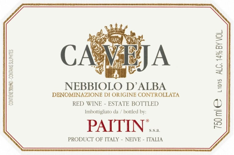 Image result for caveja nebbiolo 2015 paitin