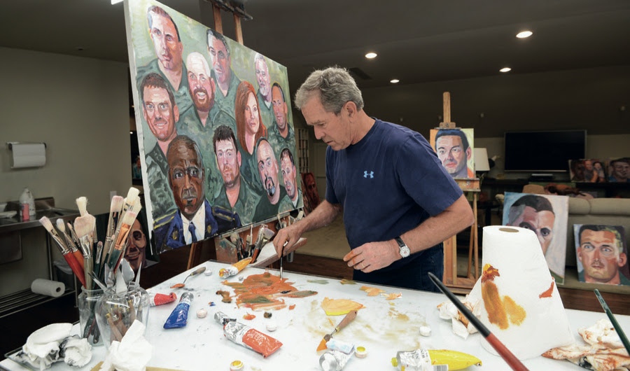 O artista quem ensinou a George W. Bush para o Paint