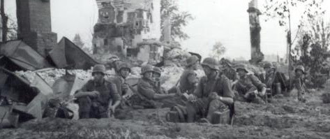 Helmets of the Wehrmacht with the                         protection of ears and neck, example during                         Barbarossa campaign