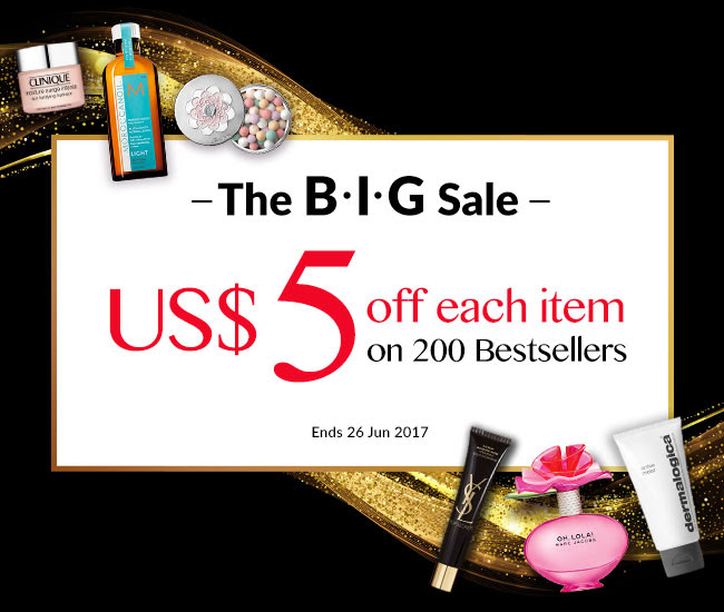 The BIG Sale! US$5 Off Each Item From Our 200 Bestsellers! Ends 26 Jun 2017