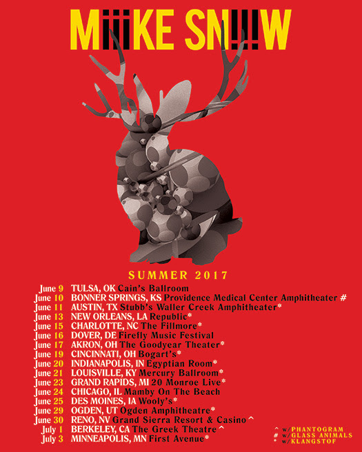 Miike Snow - Summer 2017 Tour
