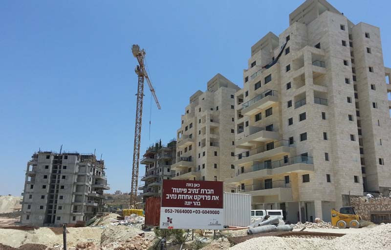 Kiryat Belz being built in the Har Yona neighborhood of Nazareth Illit.