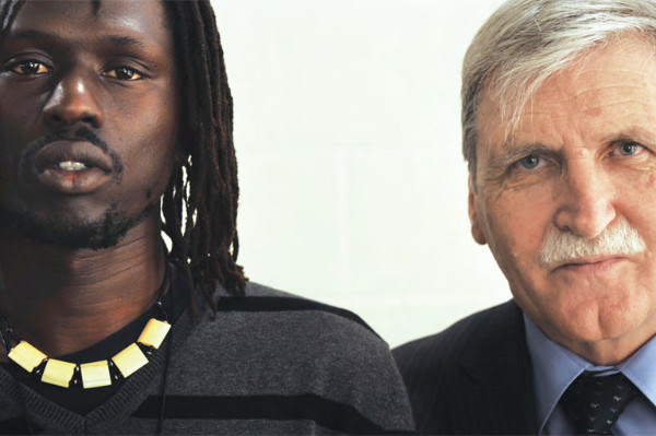 Emmanuel Jal, left, with Lieutenant General Roméo Dallaire (retired).