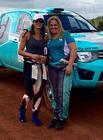 Sandra, piloto de Barueri/SP, e a navegadora catarinense Josi (Divulgação)