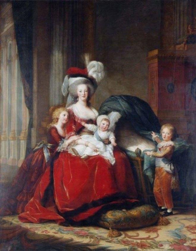 Портрет Марии Антуанетты с детьми