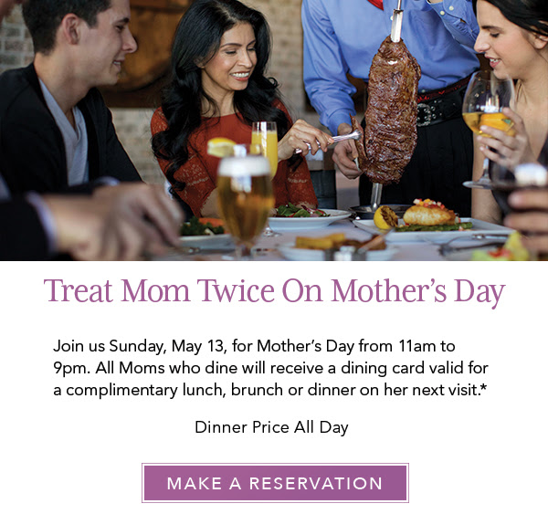 Treat Mom Twice On Mother's Day | Make a Reservation