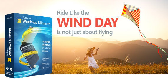 Ride Like the Wind Day Sale - 55% Off Auslogics Windows Slimmer Coupon