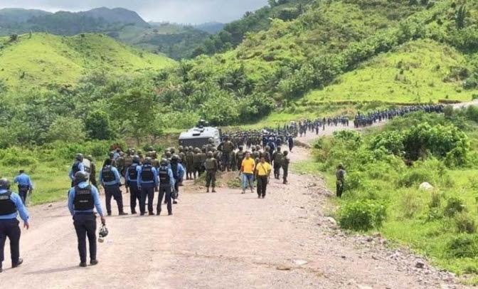 Juego macabro entre minera, gobierno y cuerpos represivos entrará en acción en Guapinol