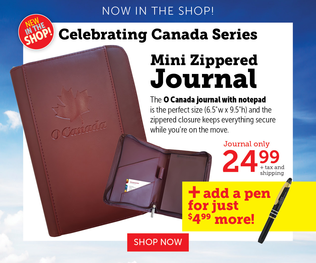 Mini Zippered Journal