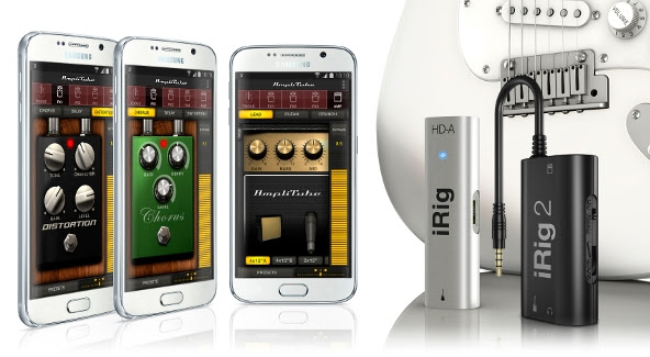 IK Multimedia's AmpliTube and Samsung's Galaxy S6
