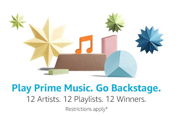 Play Prime Music: 12 artists, 12 playlists, 12 winners. Restrictions apply*