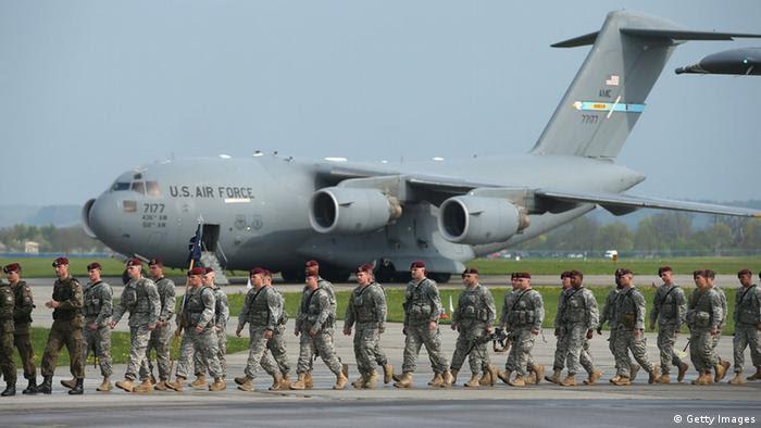 Polen Ankunft US-Infanterie