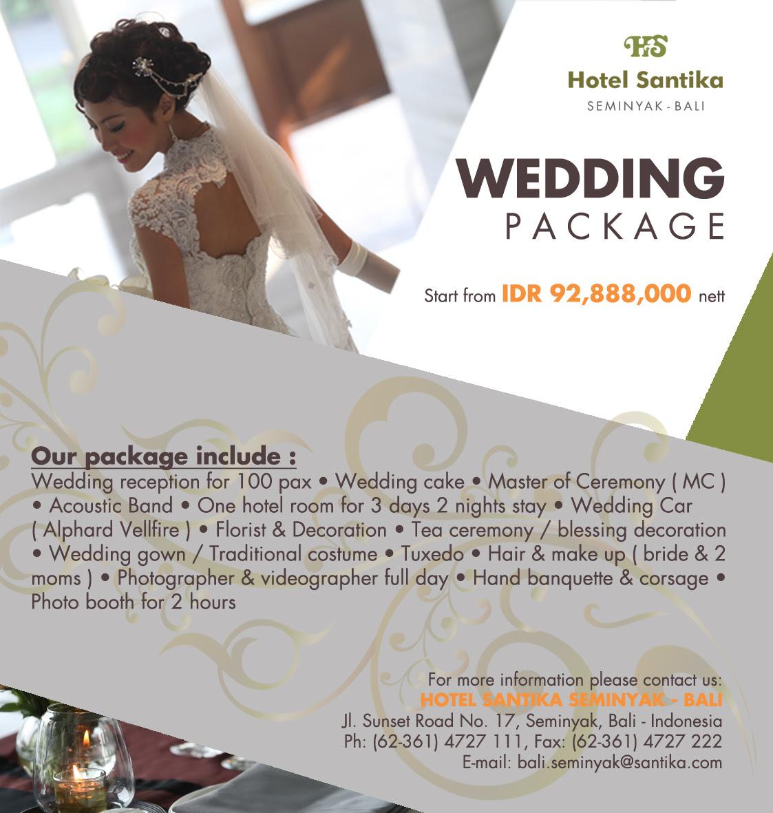 Have Your Dream Wedding At Hotel Santika Seminyak Bali Plus Magazine