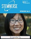 Dr. Jennifer Yu on STEM podcast photo