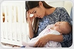 Different characteristics associated with depression before and after giving birth