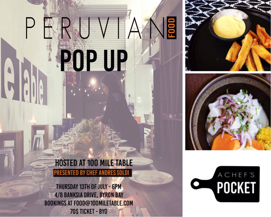 Byron Bay Pop-Up Dinner at 100 Mile Table