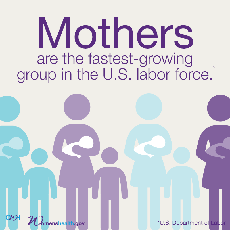 Mothers are the fastest-growing group in the U.S. workforce.
