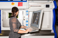 Operating a machine at a G.E. plant in South Carolina that uses 3-D printing technology to create gas turbine parts.