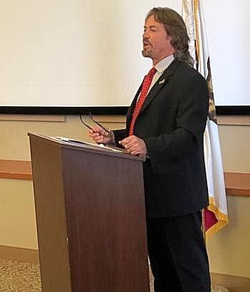 Dale DiGennaro of Custom Lending Group addressing fellow CAMP members at legislative day in Sacramento April 11th_ 2018
