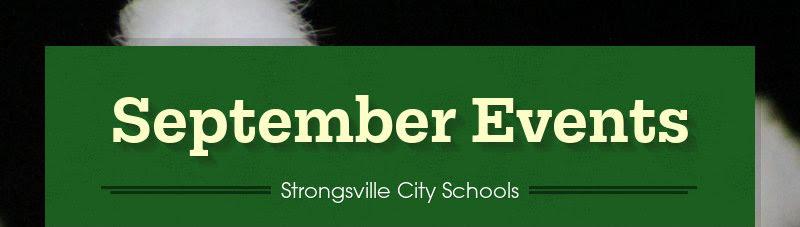 September Events Strongsville City Schools