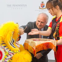 Ceremonia de colocación de la primera piedra de The Peninsula London