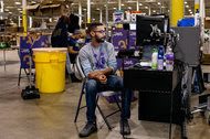 Workers in Swedesboro, N.J., received incoming Jet.com orders in December.