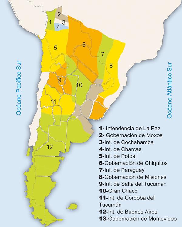 Republica argentina -Provincias Unidas del Río de la Plata en 1816