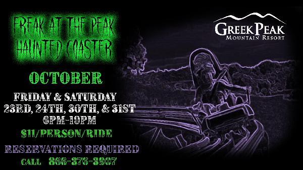 Freak at the Peak - Haunted Coaster Rides