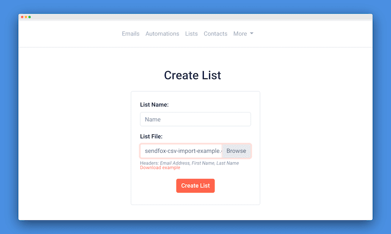 Create List from CSV