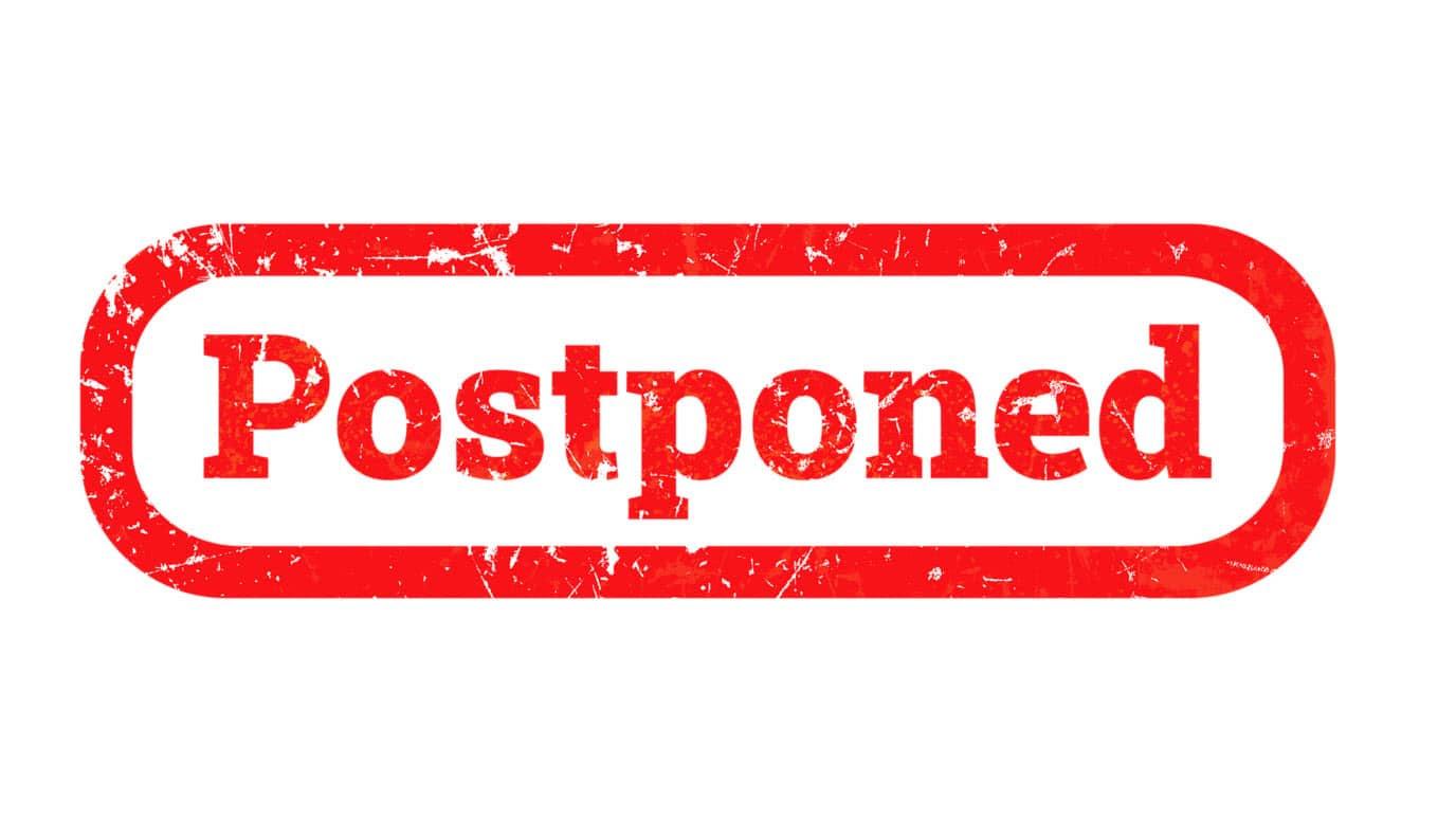 Image result for Postponed