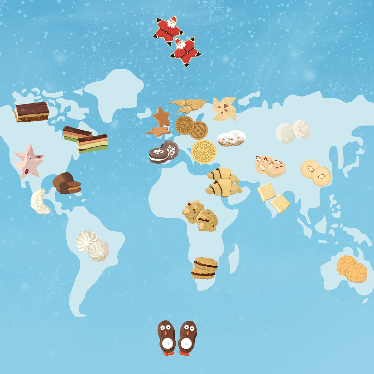36 Christmas Cookies from Around the World