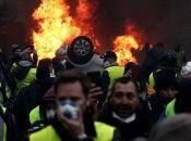 Las protestas iniciaron el 17 de noviembre del año pasado en demanda a la derogación del aumento de los carburantes.